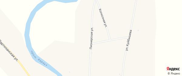 Пионерская улица на карте села Кудары с номерами домов