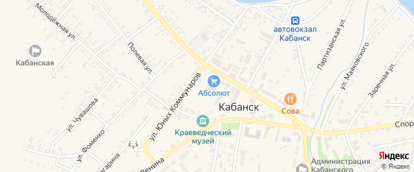 Светлый переулок на карте села Кабанск с номерами домов