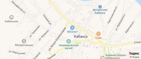 Полевой переулок на карте села Кабанск с номерами домов