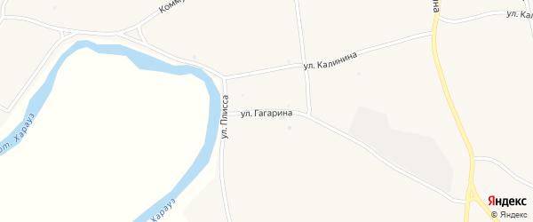 Улица Гагарина на карте села Кудары с номерами домов