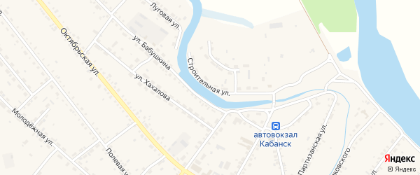Строительная улица на карте села Кабанск с номерами домов