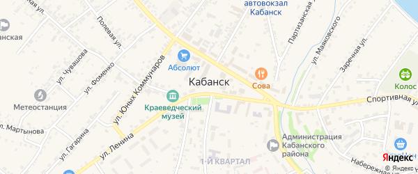 Юбилейный переулок на карте села Кабанск с номерами домов