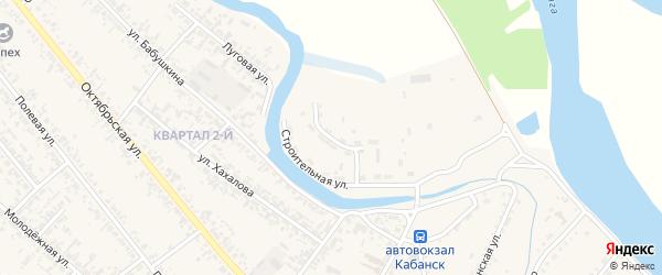 Новостроительная улица на карте села Кабанск с номерами домов