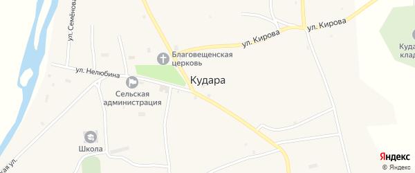 Октябрьская улица на карте села Кудары с номерами домов