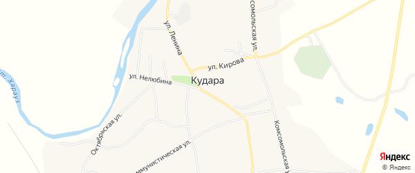Карта села Кудары в Бурятии с улицами и номерами домов