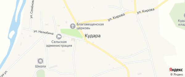 Улица Нелюбина на карте села Кудары с номерами домов