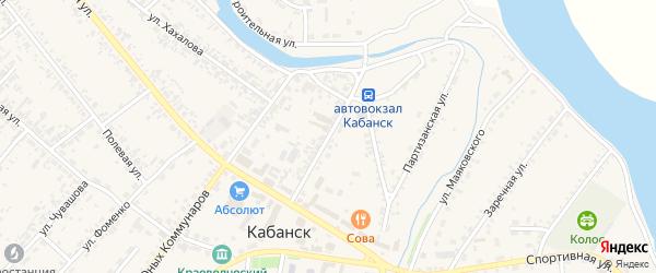 Кооперативная улица на карте села Кабанск с номерами домов