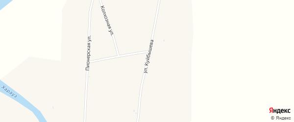 Улица Куйбышева на карте села Кудары с номерами домов