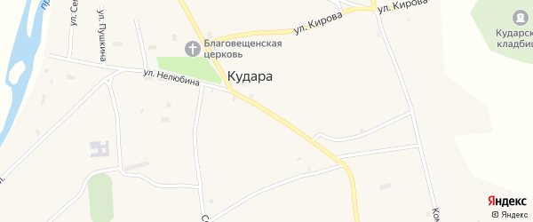 Улица Ленина на карте села Кудары с номерами домов