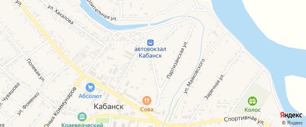 Красноармейская улица на карте села Кабанск с номерами домов