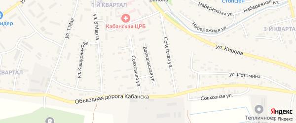 Байкальская улица на карте села Кабанск с номерами домов