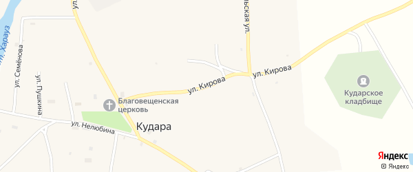 Улица Кирова на карте села Кудары с номерами домов