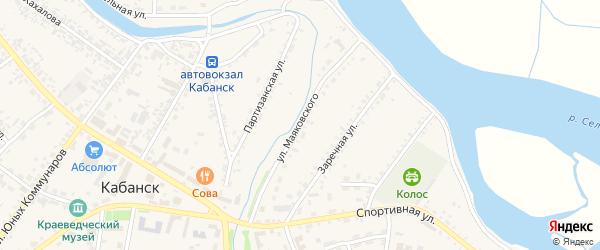 Улица Маяковского на карте села Кабанск с номерами домов