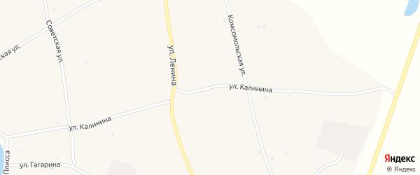 Улица Калинина на карте села Кудары с номерами домов