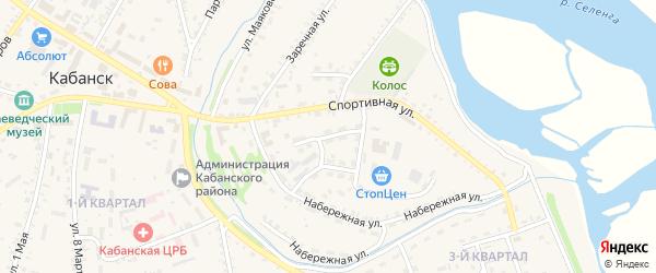 Заводской переулок на карте села Кабанск с номерами домов