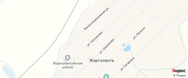 Улица Халзанова на карте улуса Жаргаланта с номерами домов