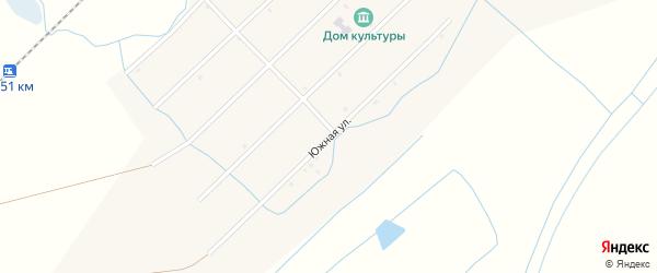 Южная улица на карте улуса Жаргаланта с номерами домов
