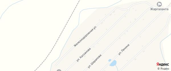 Железнодорожная улица на карте улуса Жаргаланта с номерами домов