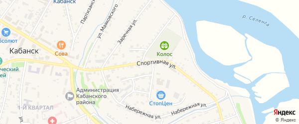Спортивная улица на карте села Кабанск с номерами домов