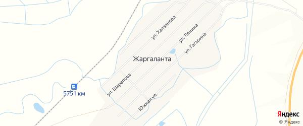 Местность Казенный пруд на карте улуса Жаргаланта с номерами домов