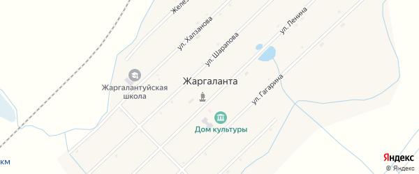 Новая улица на карте улуса Жаргаланта с номерами домов