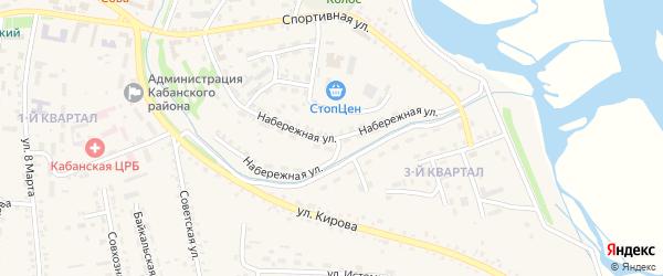 Набережная улица на карте села Кабанск с номерами домов