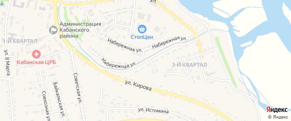 3-й квартал на карте села Кабанск с номерами домов