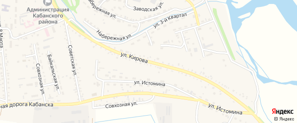 Улица Кирова на карте села Кабанск с номерами домов
