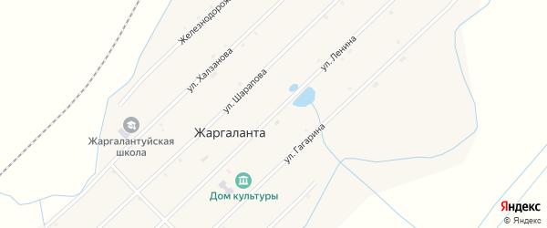Улица Ленина на карте улуса Жаргаланта с номерами домов