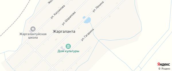 Улица Гагарина на карте улуса Жаргаланта с номерами домов