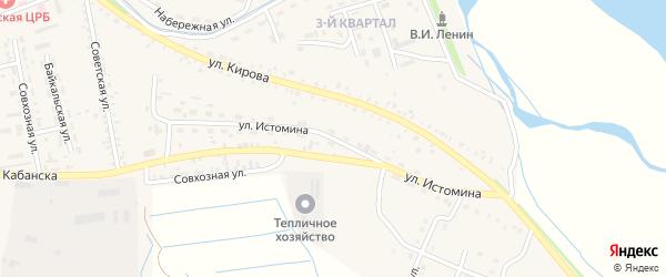 Улица Истомина на карте села Кабанск с номерами домов