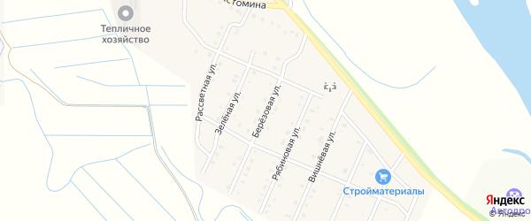 Березовая улица на карте села Кабанск с номерами домов