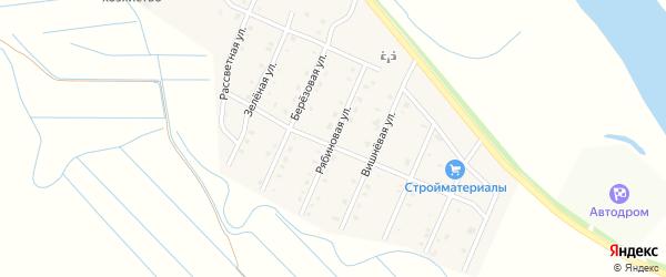 Рябиновая улица на карте села Кабанск с номерами домов