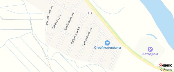 Вишневая улица на карте села Кабанск с номерами домов