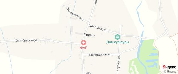 Октябрьская улица на карте села Елани с номерами домов