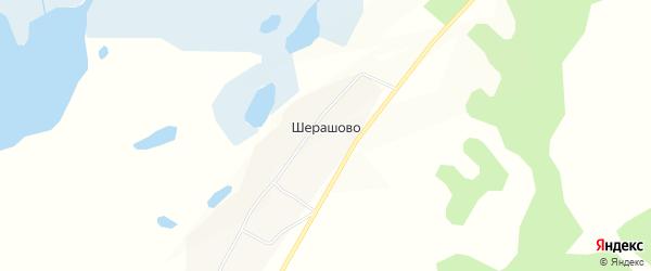 Карта села Шерашово в Бурятии с улицами и номерами домов
