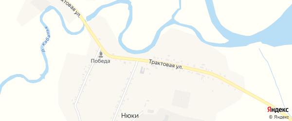 Трактовая улица на карте села Нюков с номерами домов