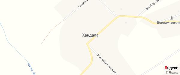 Хараузинский переулок на карте улуса Хандала с номерами домов