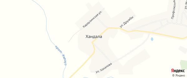 Карта улуса Хандала в Бурятии с улицами и номерами домов