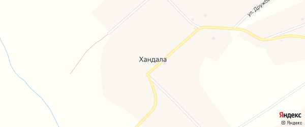 Кооперативная улица на карте улуса Хандала с номерами домов
