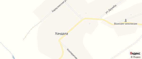 Улица Братьев Мункоевых на карте улуса Хандала с номерами домов
