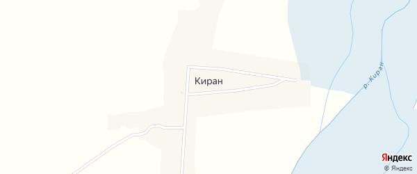 Заречная улица на карте села Кирана с номерами домов