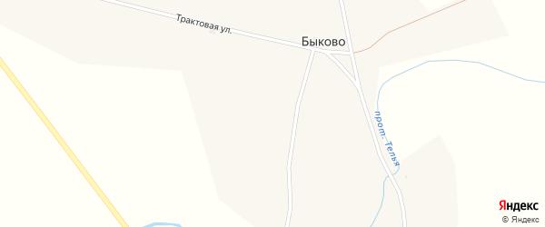 Трактовая улица на карте села Быково с номерами домов