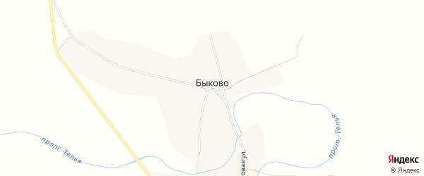 Карта села Быково в Бурятии с улицами и номерами домов