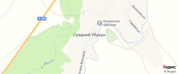 Территория МТФ 2 на карте села Среднего Убукуна с номерами домов