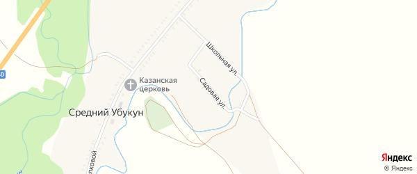 Садовая улица на карте села Среднего Убукуна с номерами домов