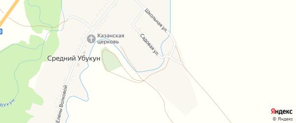 Улица Красный Яр на карте села Среднего Убукуна с номерами домов