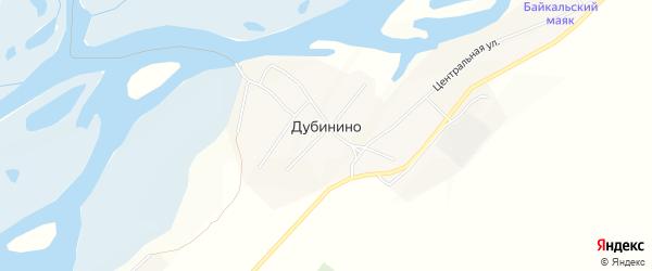 Карта села Дубинино в Бурятии с улицами и номерами домов