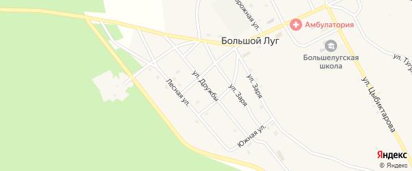 Улица Дружбы на карте улуса Большого Луга с номерами домов