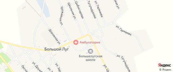 Улица Заря на карте улуса Большого Луга с номерами домов